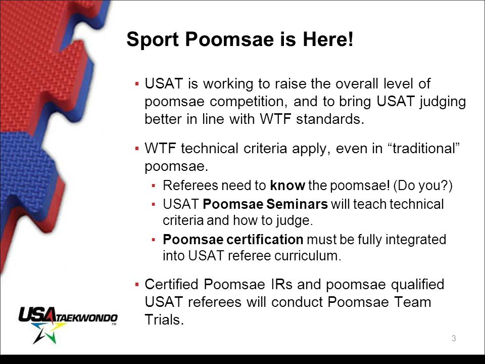 Sport Poomsae is Here!