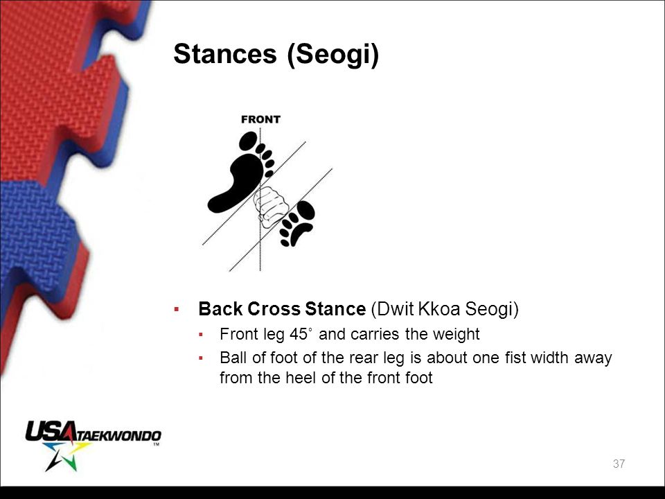 Stances (Seogi) Back Cross Stance (Dwit Kkoa Seogi)