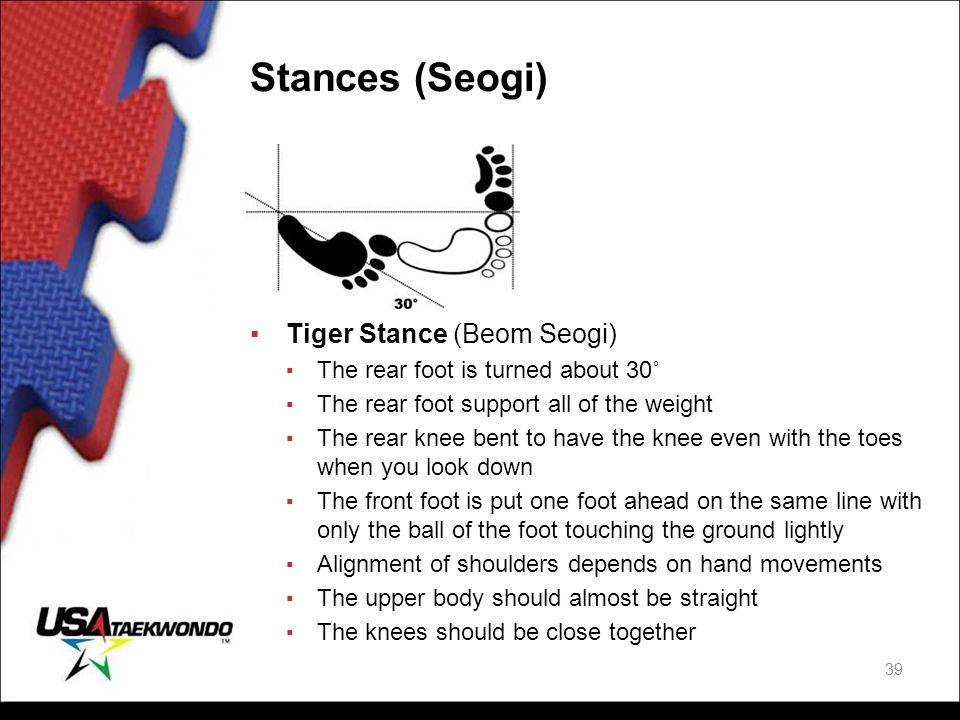 Stances (Seogi) Tiger Stance (Beom Seogi)