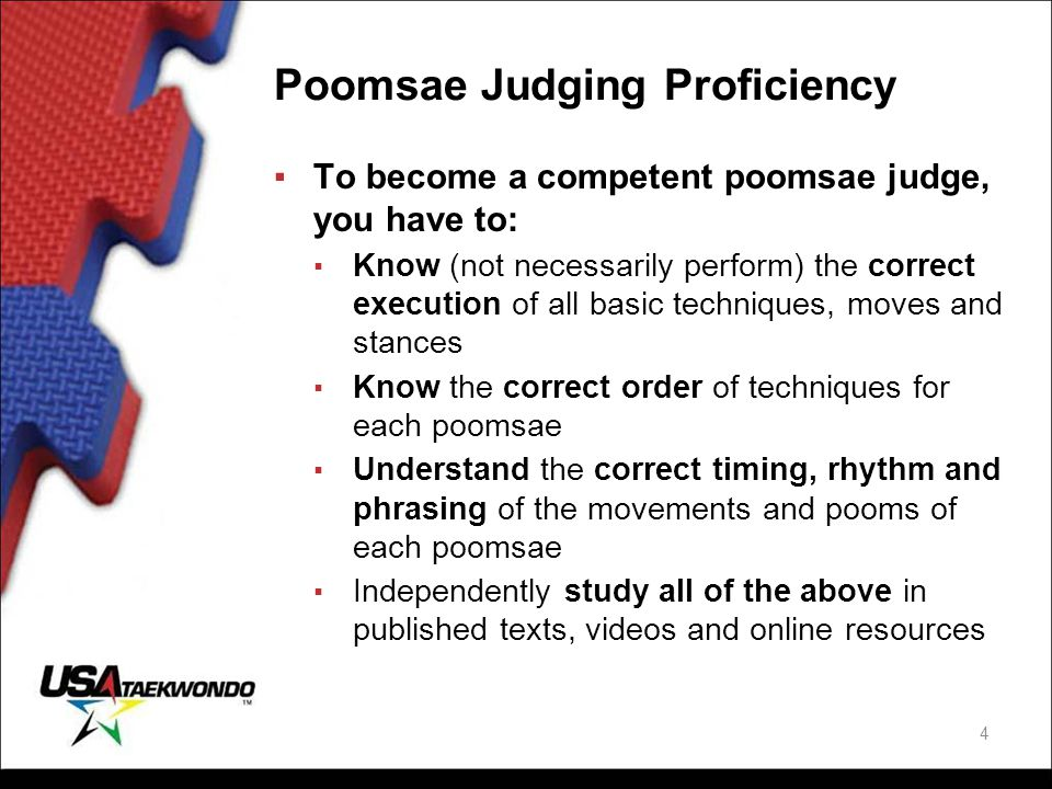Poomsae Judging Proficiency