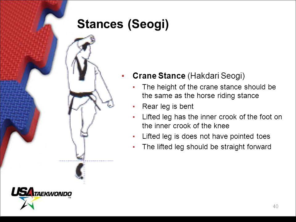 Stances (Seogi) Crane Stance (Hakdari Seogi)