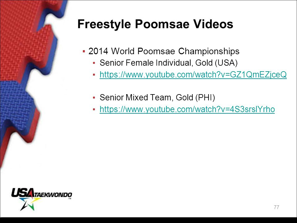 Freestyle Poomsae Videos