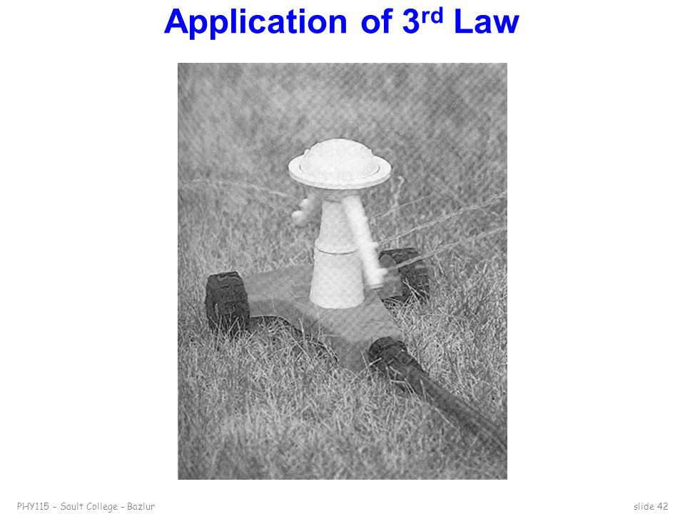Application of 3rd Law