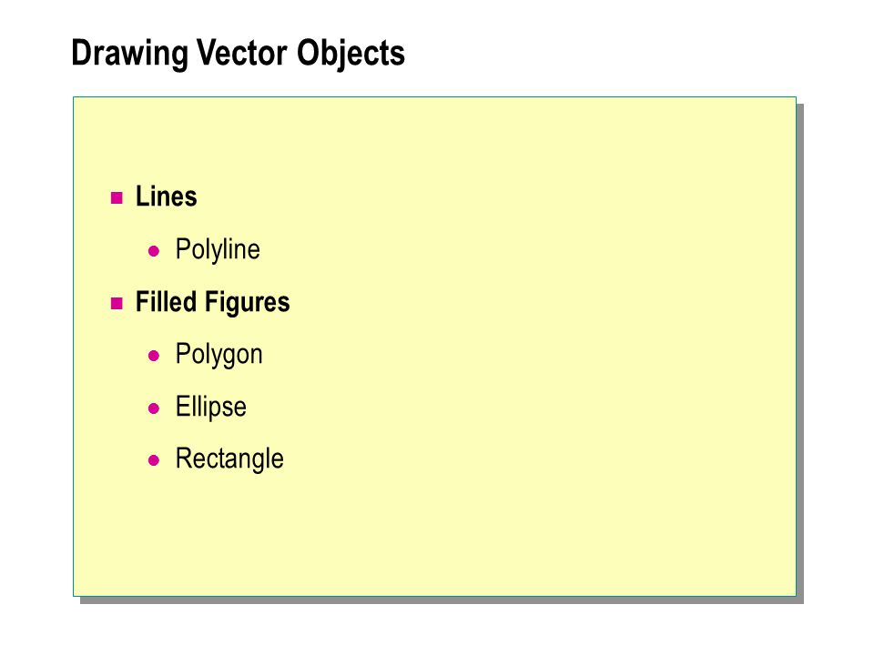 Drawing Vector Objects