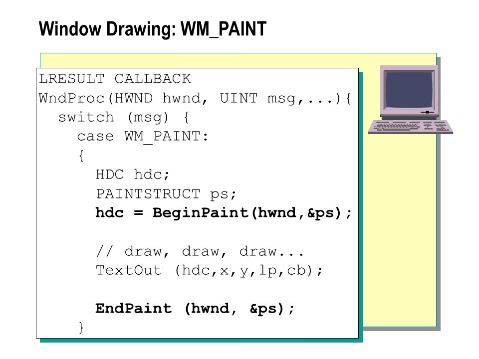 Window Drawing: WM_PAINT
