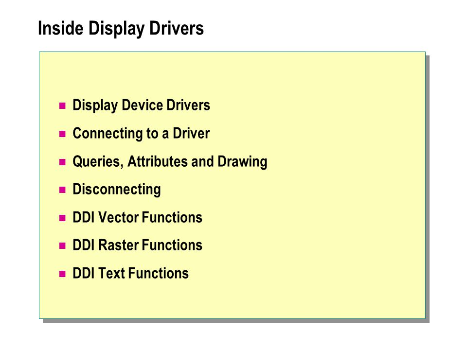 Inside Display Drivers