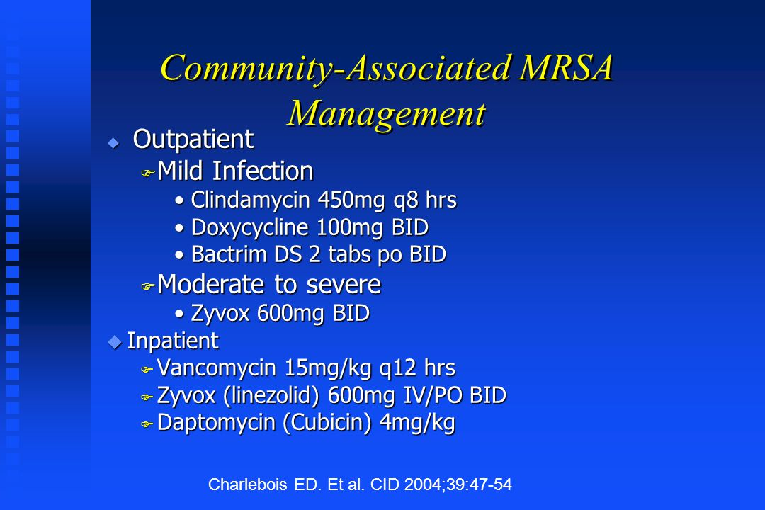Community-Associated MRSA Management