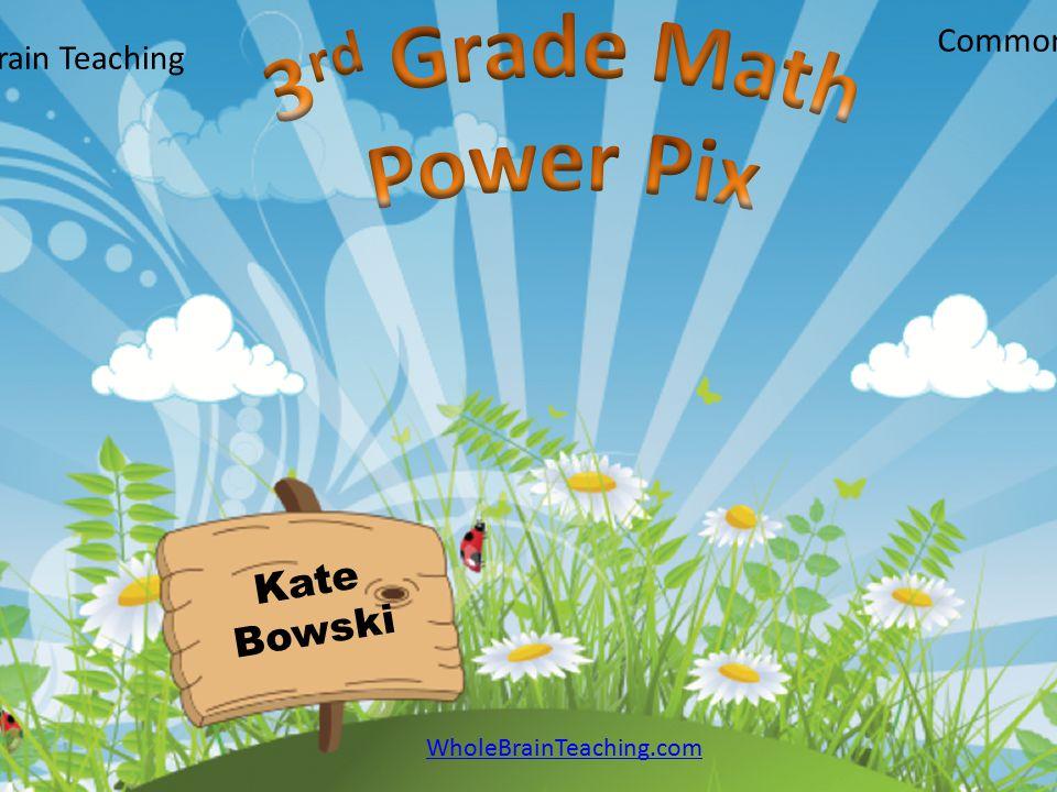 3rd Grade Math Power Pix Kate Bowski Common Core Edition