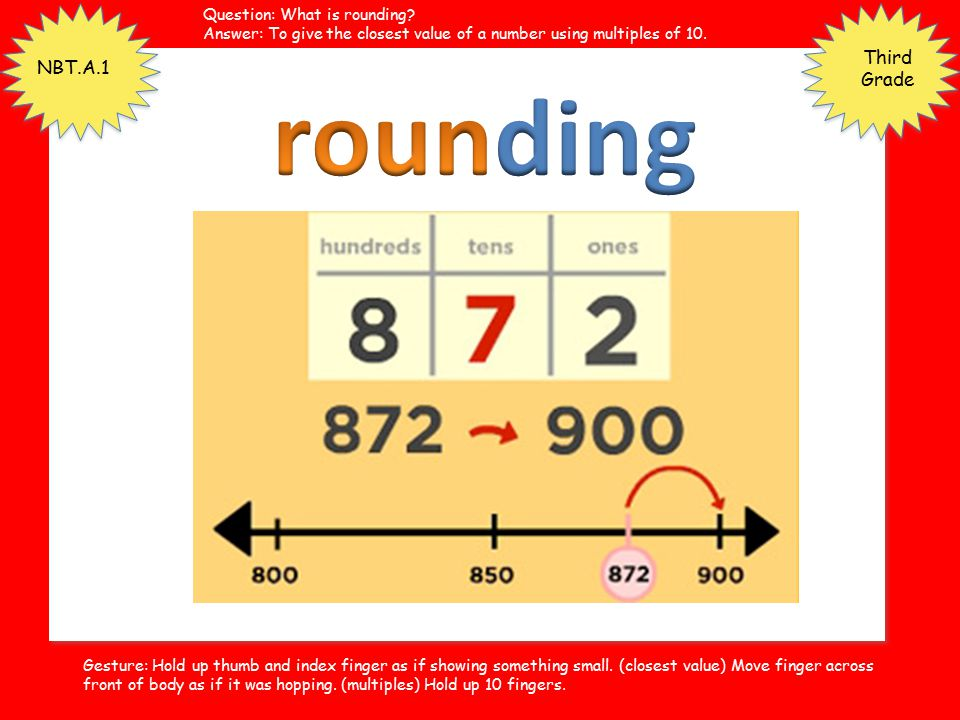 rounding Third Grade NBT.A.1 Question: What is rounding