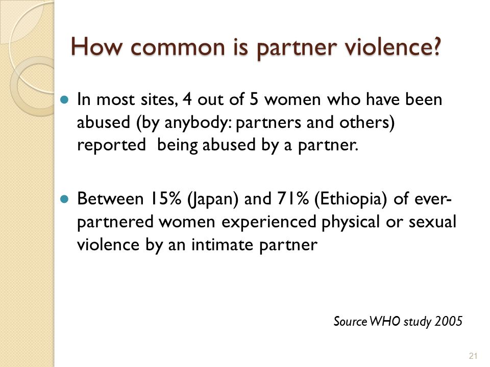 How common is partner violence