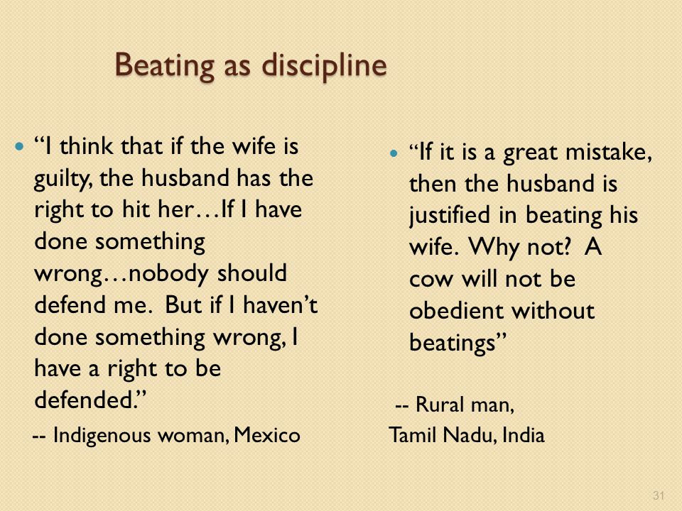 Beating as discipline