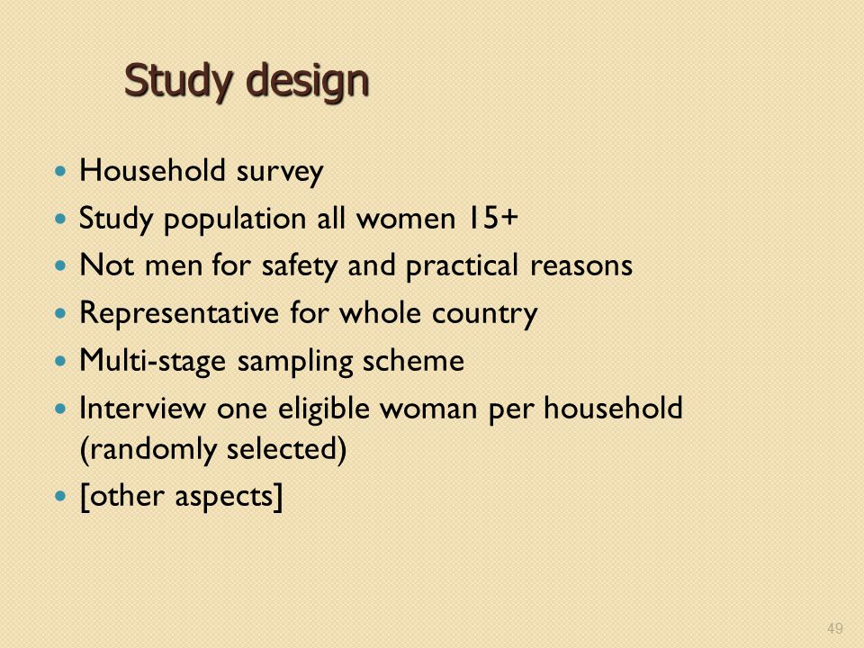 Training workshop for field staff ppt video online download for Design of household surveys