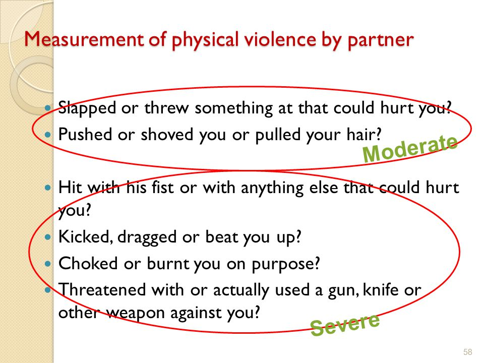 Measurement of physical violence by partner