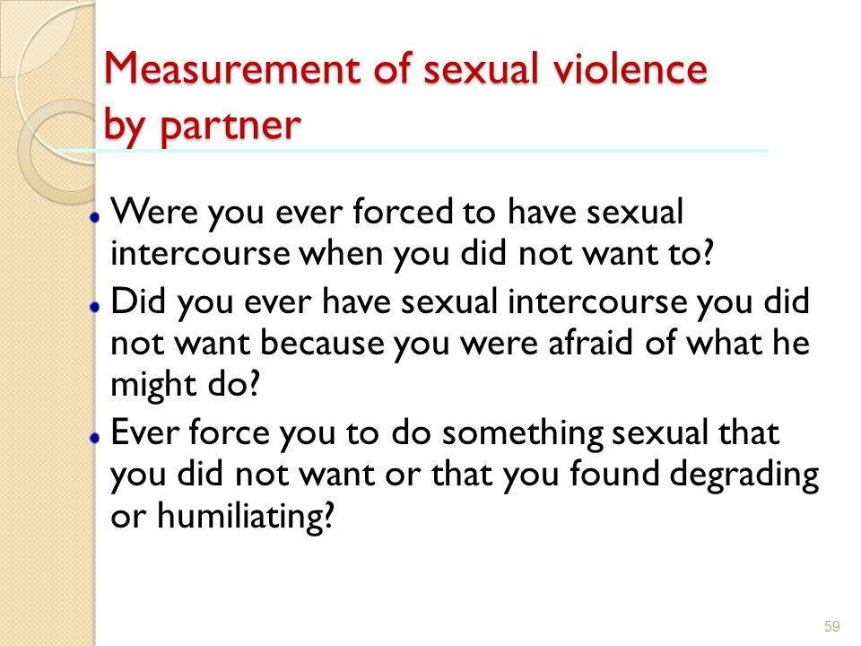 Measurement of sexual violence by partner
