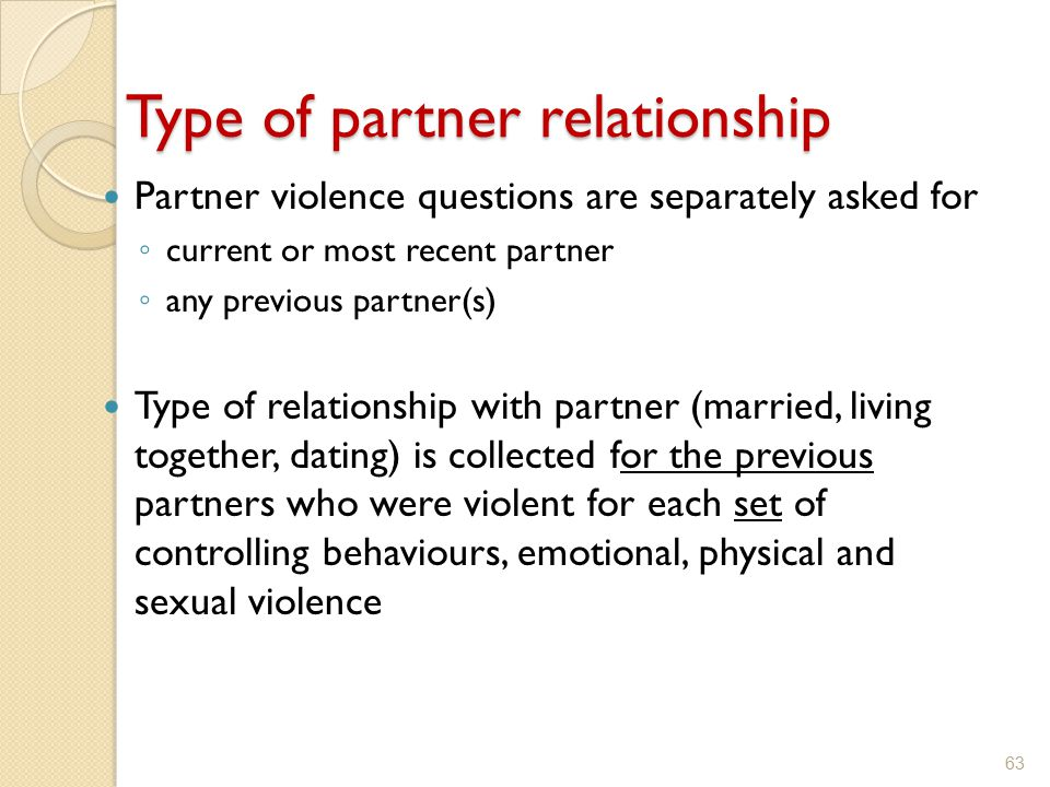 Type of partner relationship