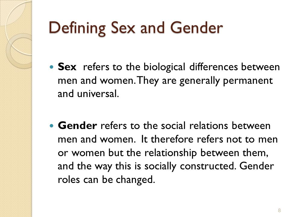 Defining Sex and Gender