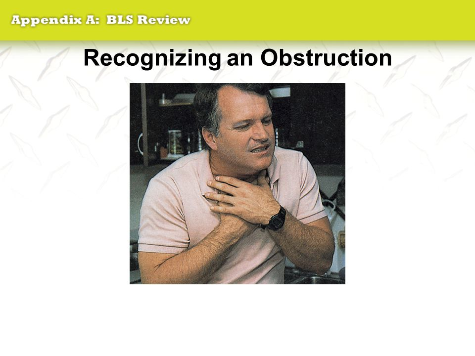 Recognizing an Obstruction