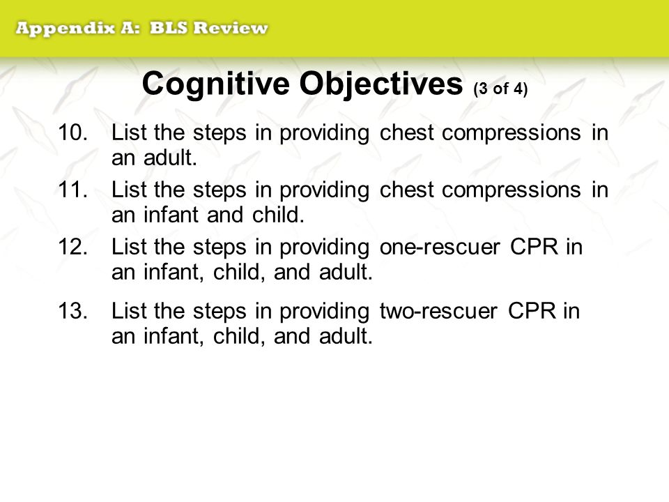 Cognitive Objectives (3 of 4)
