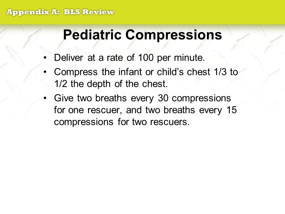 Pediatric Compressions