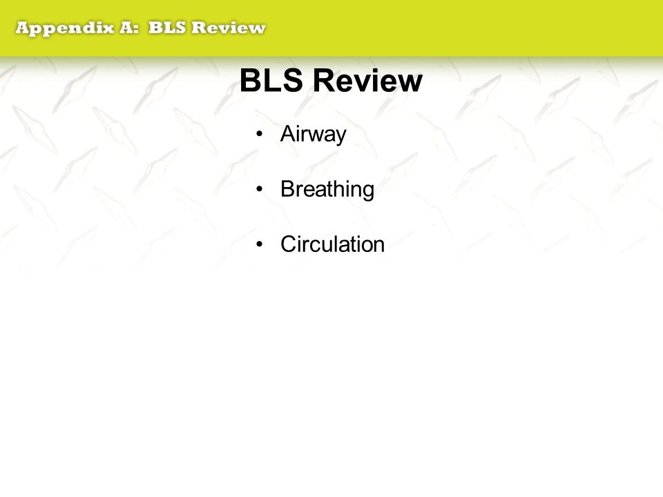 BLS Review Airway Breathing Circulation
