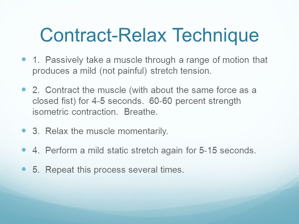 Contract-Relax Technique