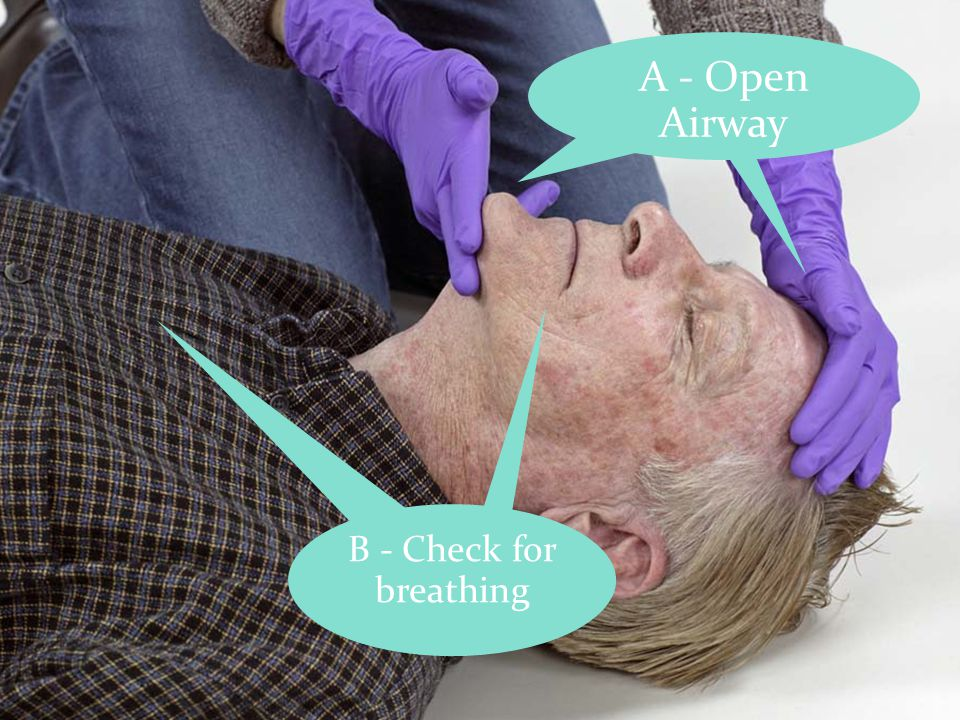 A - Open Airway B - Check for breathing