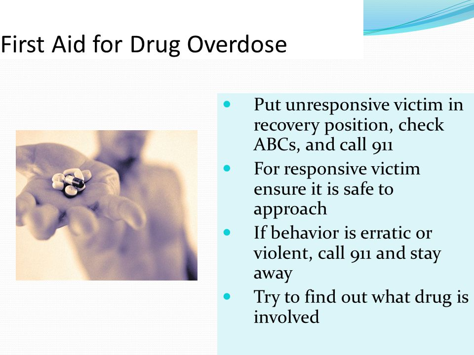 First Aid for Drug Overdose