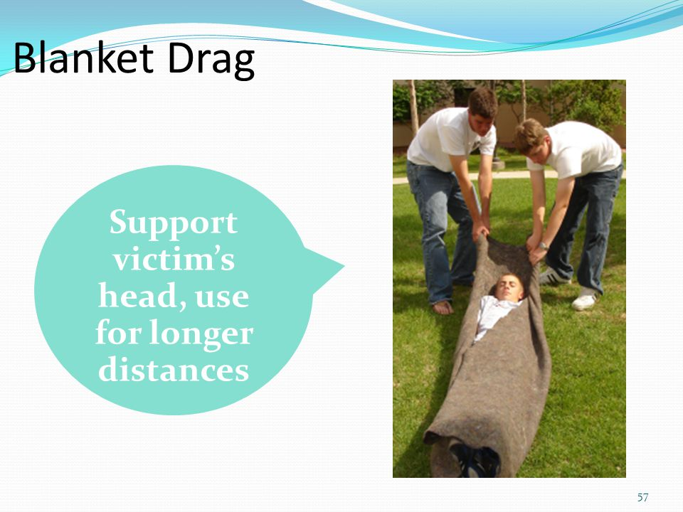 Support victim's head, use for longer distances