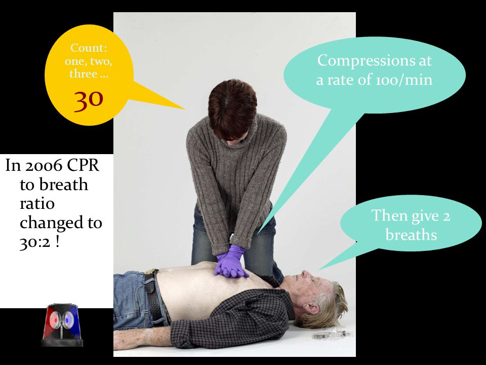 Compressions at a rate of 100/min