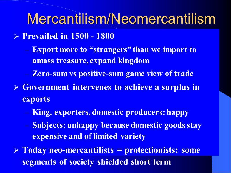 Mercantilism/Neomercantilism