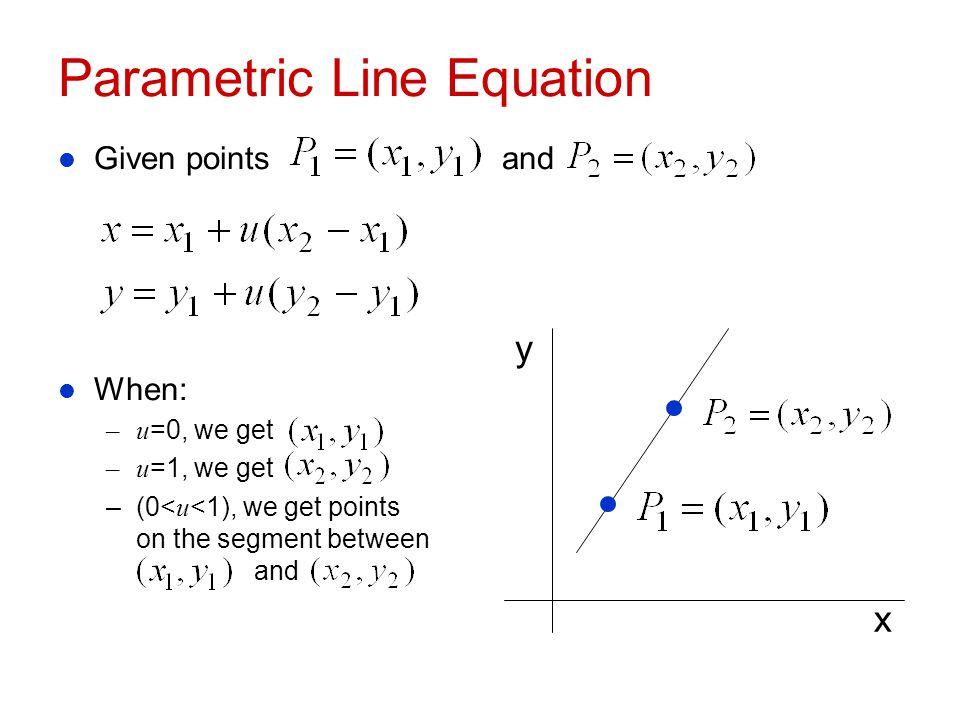 Parametric Line Equation
