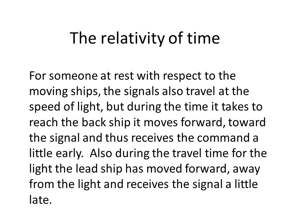 The relativity of time
