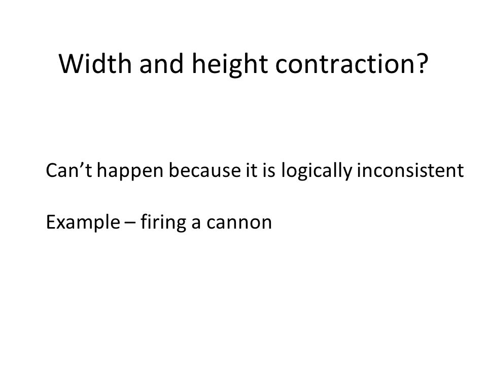 Width and height contraction