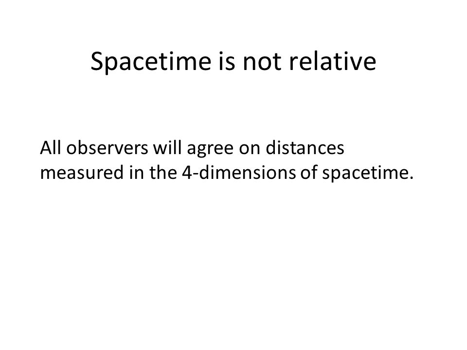 Spacetime is not relative