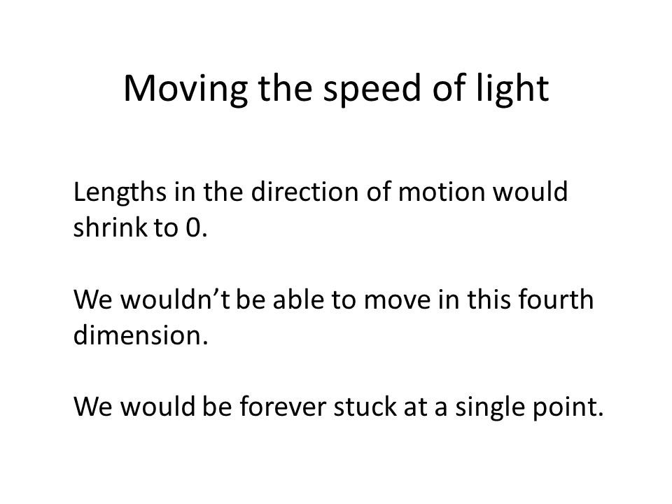 Moving the speed of light