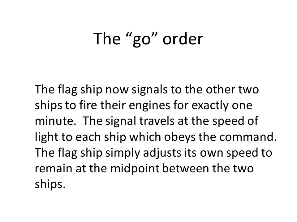 The go order