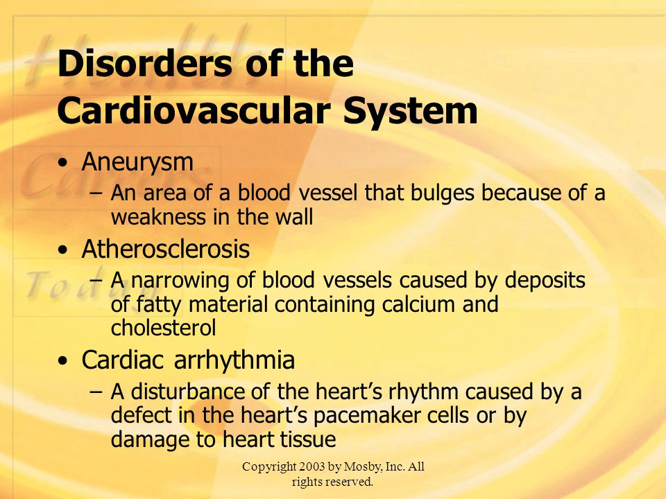 Disorders of the Cardiovascular System