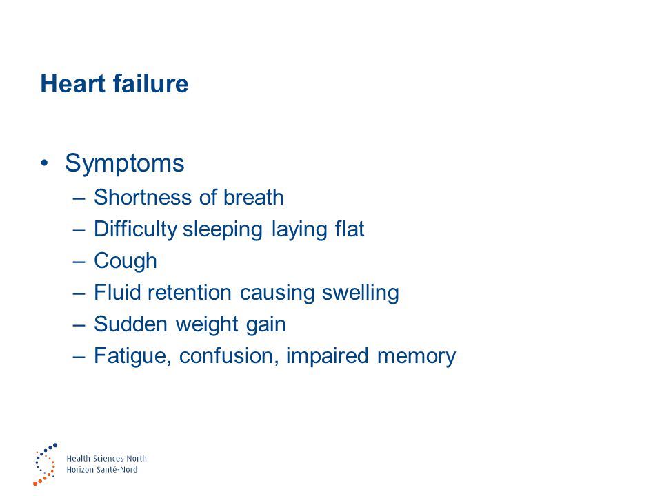 Heart failure Symptoms Shortness of breath