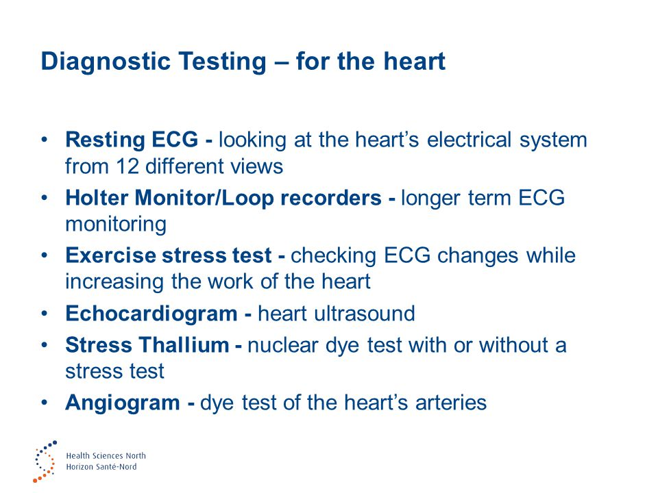 Diagnostic Testing – for the heart