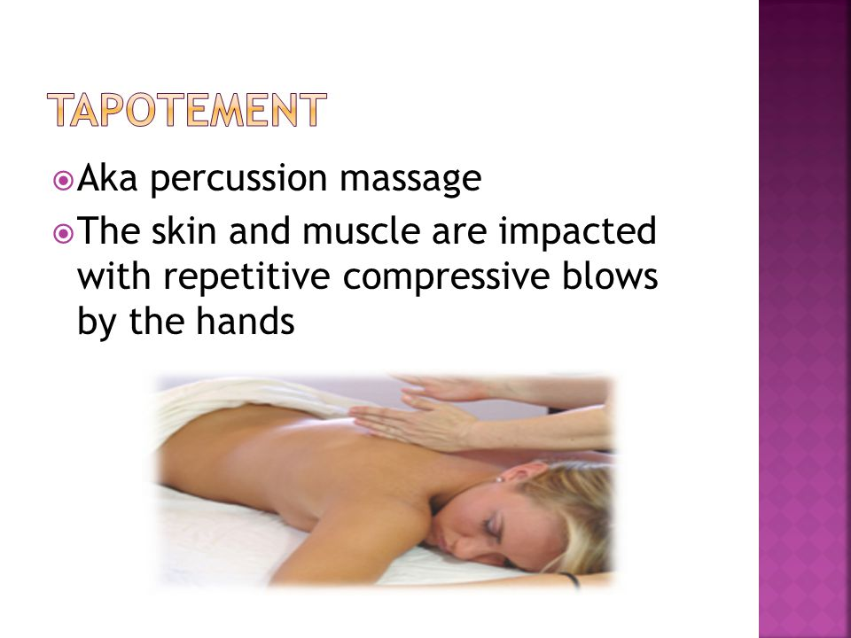 tapotement Aka percussion massage