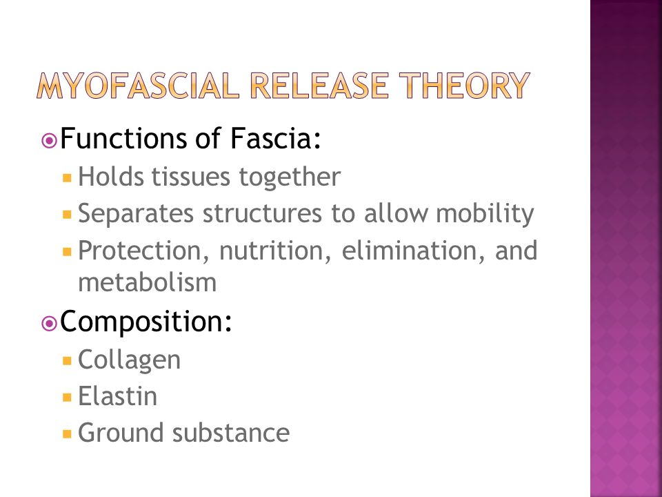 Myofascial Release Theory
