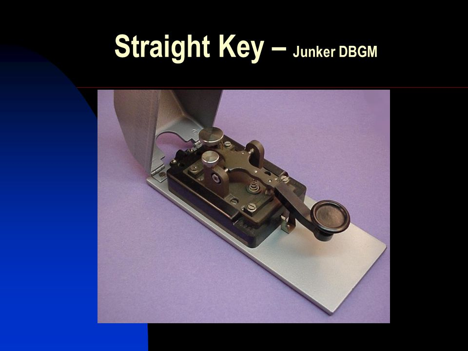 Straight Key – Junker DBGM