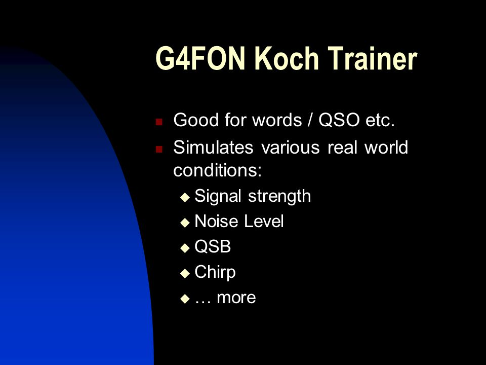 G4FON Koch Trainer Good for words / QSO etc.