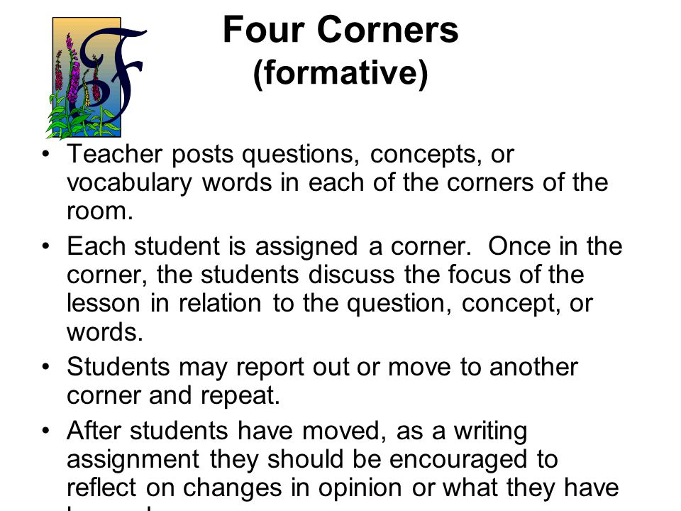 Four Corners (formative)