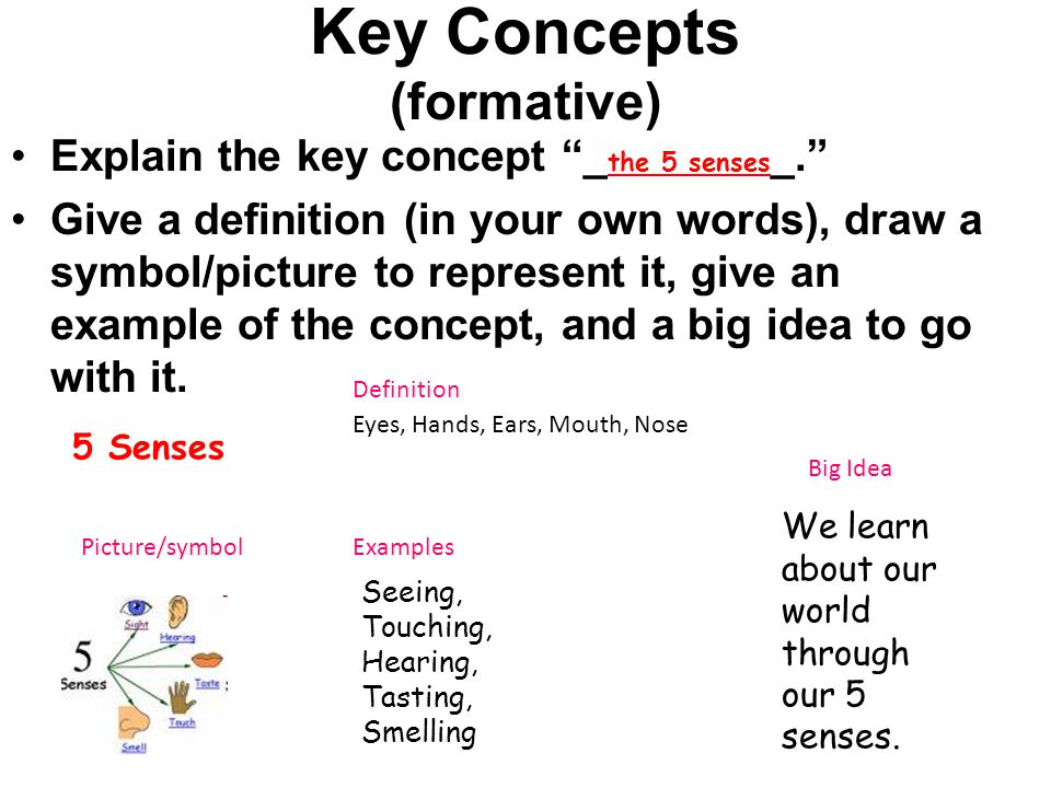 Key Concepts (formative)