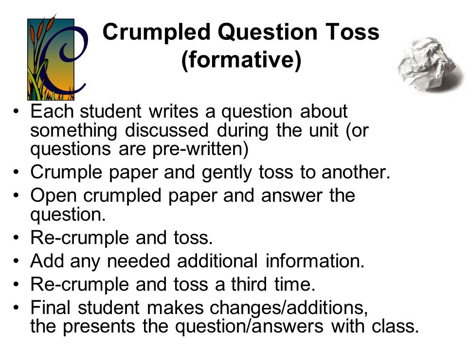 Crumpled Question Toss (formative)