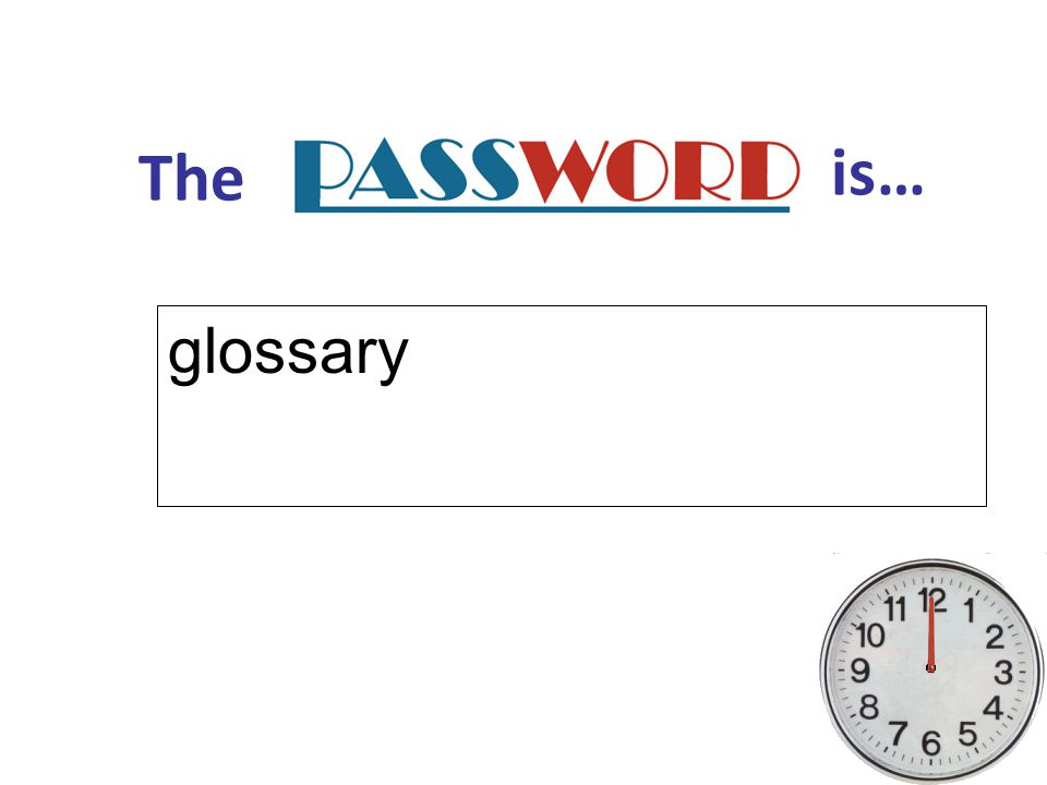 The is… glossary