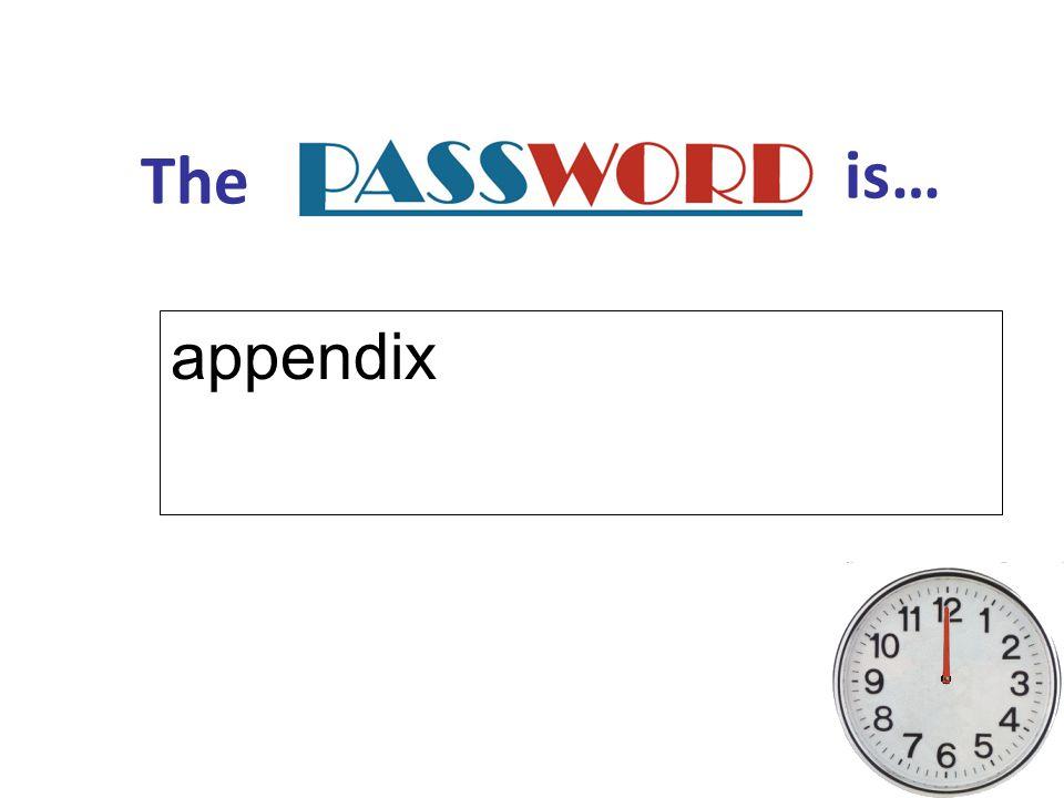 The is… appendix