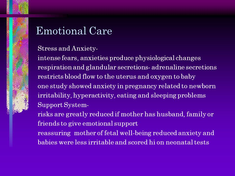 Emotional Care Stress and Anxiety-