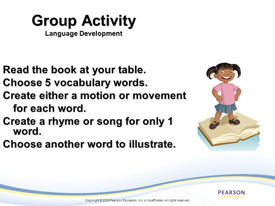 Group Activity Language Development